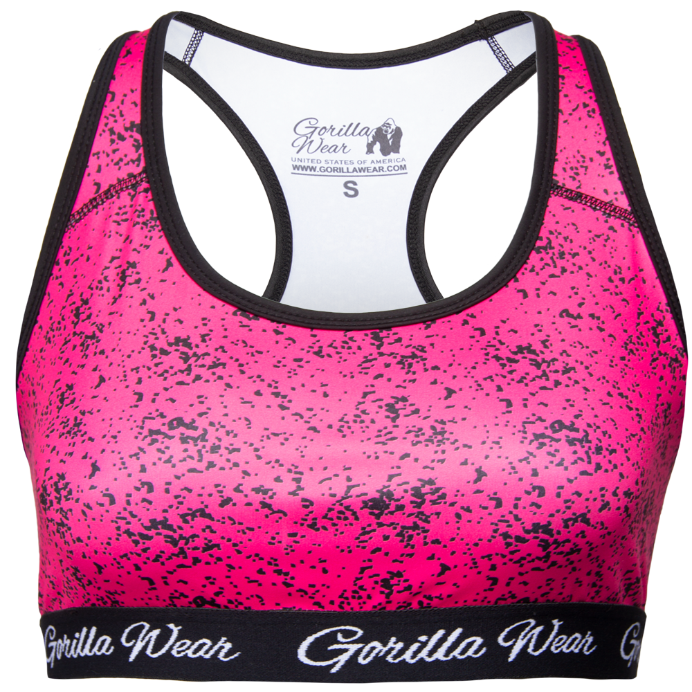 Gorilla Wear Hanna Sportbeha - Zwart/Roze - L