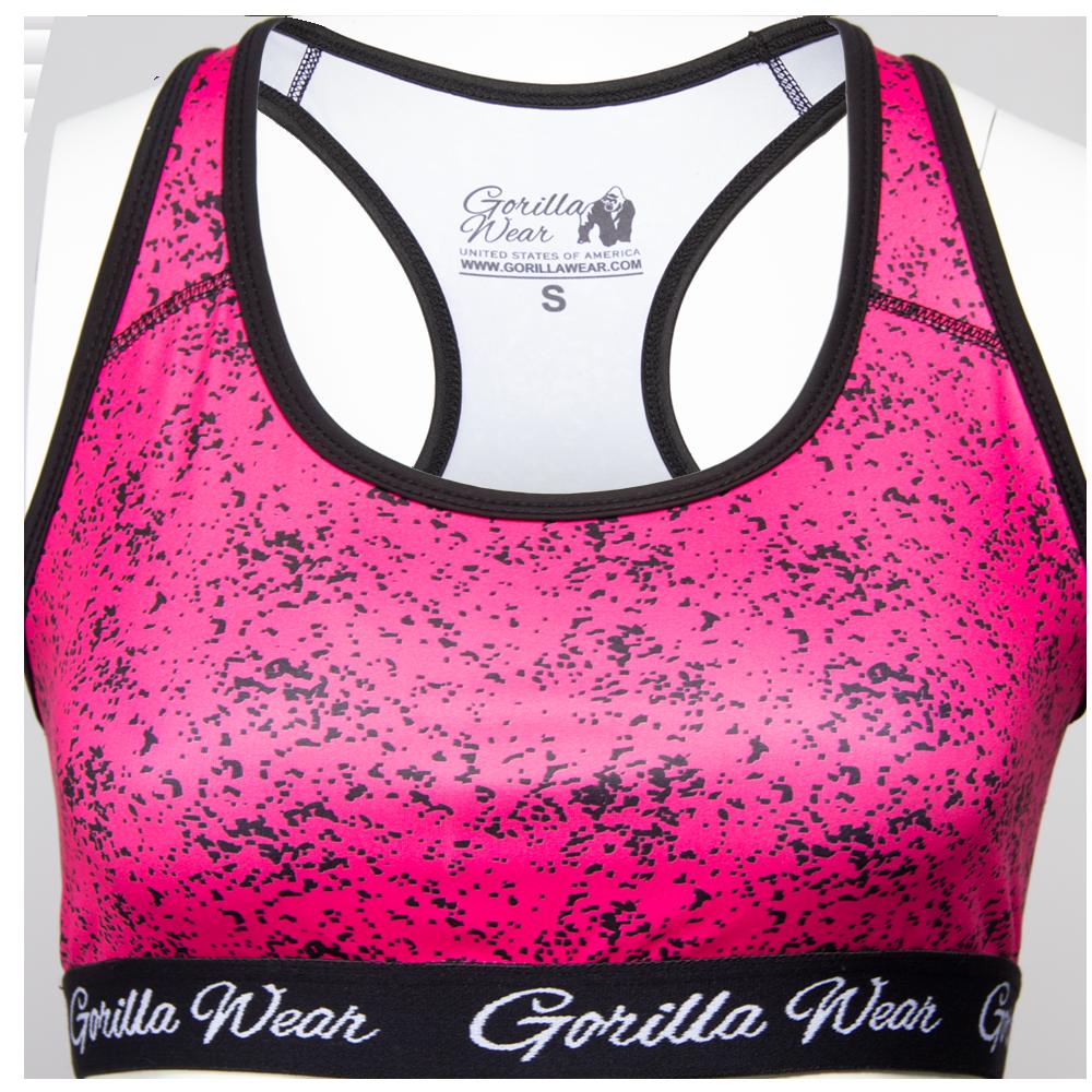 Gorilla Wear Hanna Sportbeha - Zwart/Roze - XS