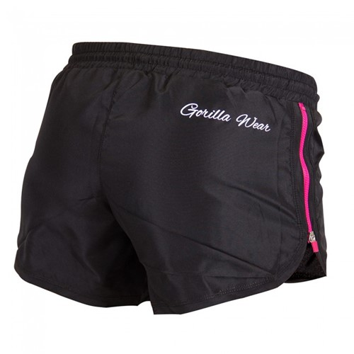 Gorilla Wear Women's New Mexico Cardio Shorts Black/Pink-2