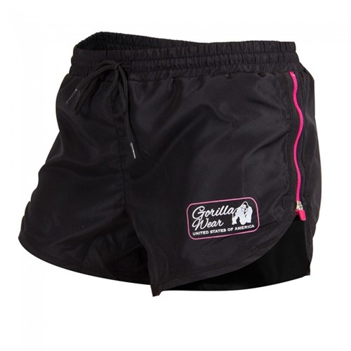 Gorilla Wear Women's New Mexico Cardio Shorts Black/Pink