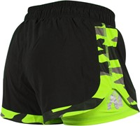 Gorilla Wear Denver Shorts Black/Neon Lime-2