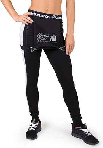 Gorilla Wear Dolores Dungarees - Black/Gray