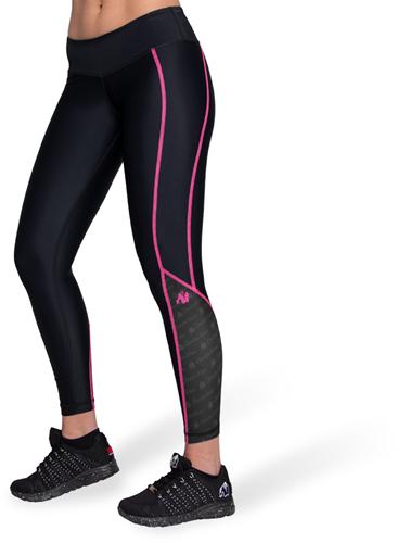 Gorilla Wear Carlin Compression Tights - Zwart/Roze