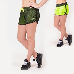 Gorilla Wear Madison Reversible Shorts - Black/Neon Lime