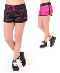Gorilla Wear Madison Reversible Shorts - Black/ Pink