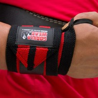 Gorilla Wear Wrist Wraps Pro Black/Red-2