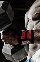 Gorilla Wear Wrist Wraps Pro Black/Red-3