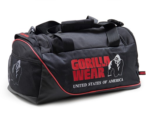 Gorilla Wear Jerome Gym Bag -  Black/Red-2
