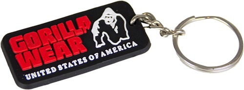 Gorilla Wear Rubber Men Logo Keychain