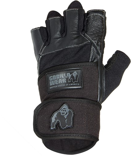 Gorilla Wear Dallas Wrist Wrap Ftinnes Handschoenen - Zwart