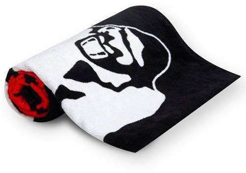 Gorilla Wear Classic Gym Towel - handdoek - Zwart/Rood-2