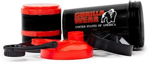 Gorilla Wear Shaker 2 GO - Zwart/Rood-3