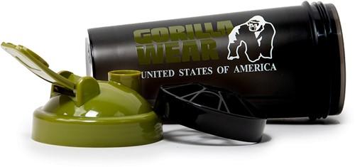 Gorilla Wear Shaker XXL - Zwart/Legergroen-3