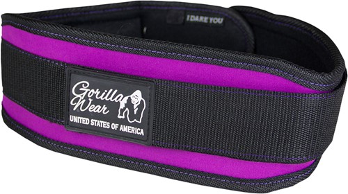 Gorilla Wear Womens Lifting Belt Black/ Purple
