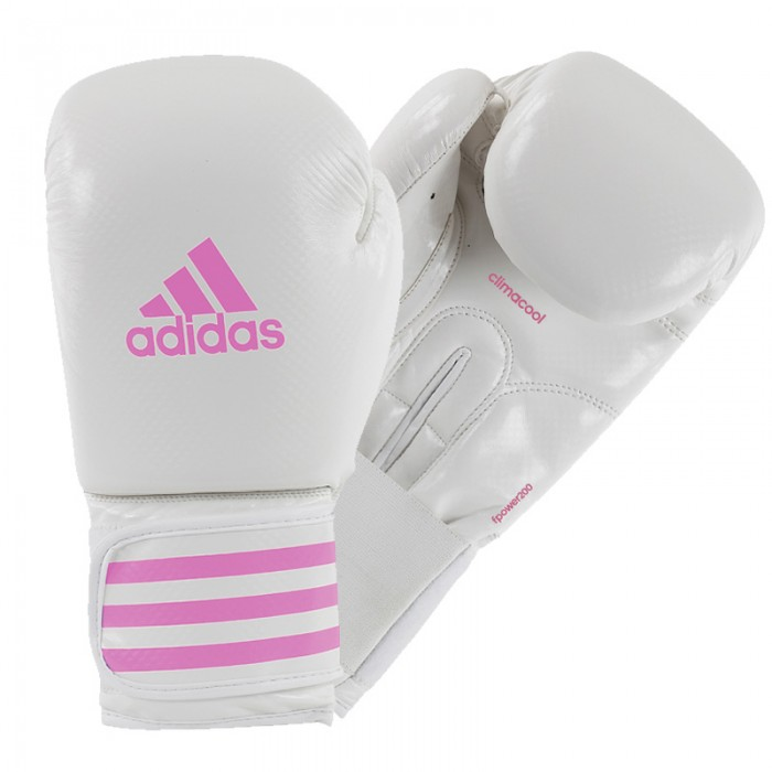Adidas Female Power 200 (kick)Bokshandschoenen Wit-Roze_10 oz