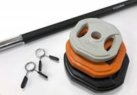 Toorx Bodypumpset - 20 kg - zwart/oranje/grijs
