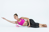 Blackroll med foam roller roze model 1
