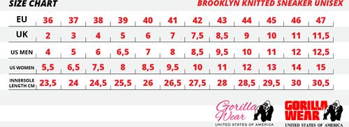 maattabel brooklyn knitted sneakers pink