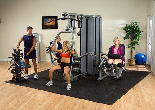 Body-Solid DGym Pro Dual 4-Stack Gym Frame-3