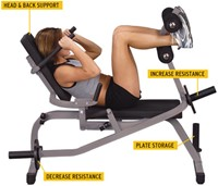 Body-Solid Counterbalance Ab Crunch