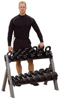Body-Solid Dual Dumbbell & Kettlebell Rack-1