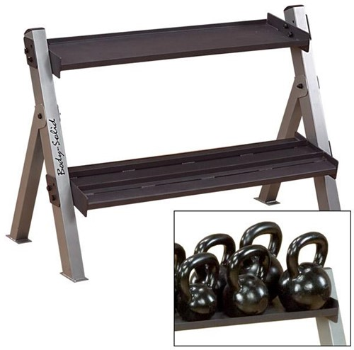 Body-Solid Dual Dumbbell & Kettlebell Rack-2