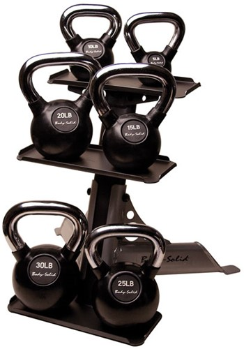 Body-Solid 3-Pair Kettlebell Rack