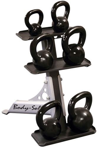 Body-Solid 3-Pair Kettlebell Rack-3
