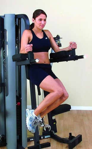 Body-Solid Vertical Knee Raise en Dip Station voor G9S