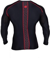 Gorilla Wear Hayden Compression longsleeve red - back 2