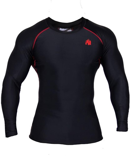 Gorilla Wear Hayden Compression longsleeve red - front 5