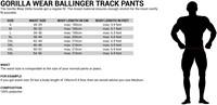 Gorilla Wear ballinger track Pants maat tabel