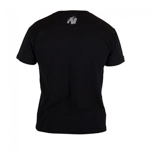 Gorilla Wear Sacramento V-Neck T-Shirt - Black/Neon Orange-2