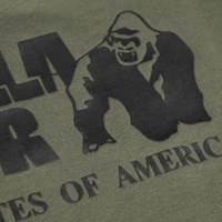 Gorilla wear classic work out top army green detail
