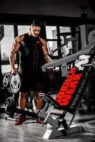 gorilla wear functional gym towel black/red