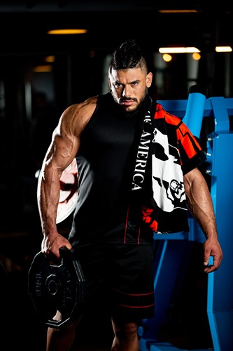 gorilla wear classic gym towel black/red
