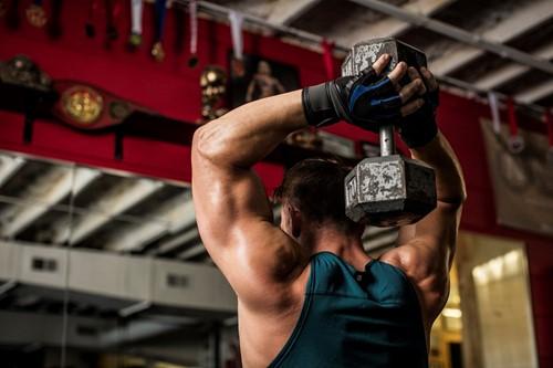 Harbinger Training Grip Gloves Black/Blue Lifestyle
