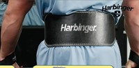 Harbinger padded leather belt black - 6 inch - model