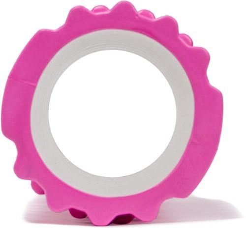 VirtuFit Grid Foam Roller 33 cm Roze - Zijaanzicht