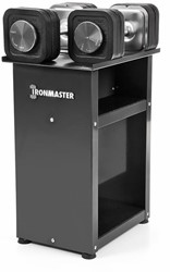 Ironmaster Quick-Lock Verstelbare Dumbbells Met Add-On Kit - 54,4 KG - Met Dumbbell Stand
