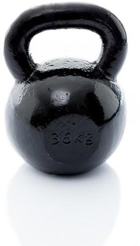 Muscle Power Gietijzeren Kettlebell - Zwart - 36 kg