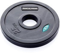 Muscle Power Rubber Halterschijf (50 mm)-3