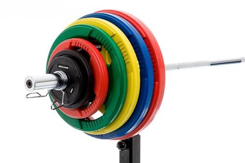 Rubber schijf gekleurd 10 kg (50 mm)