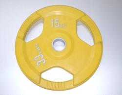 Rubber schijf gekleurd 15 kg (50 mm)