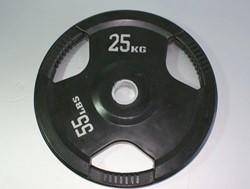 Rubber schijf gekleurd 25 kg (50 mm)