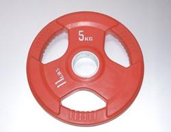 Rubber schijf gekleurd 5 kg (50 mm)