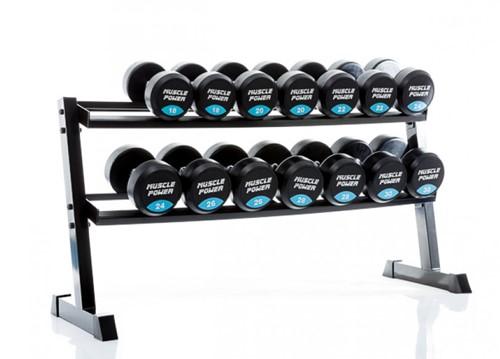 Muscle power dumbbellrek met dumbbells