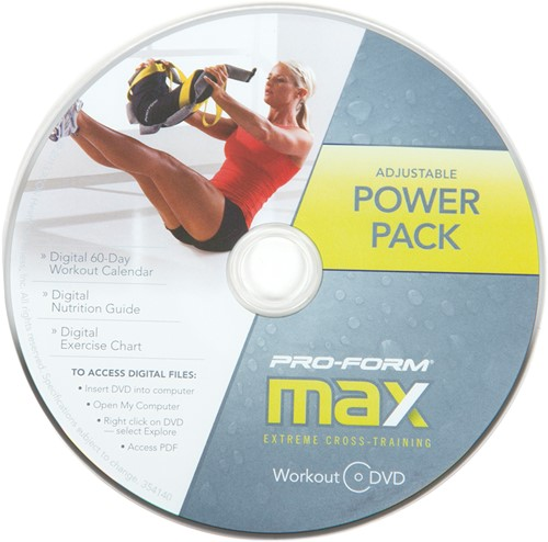 ProForm Verstelbare Bulgarian Bag met work-out DVD-3