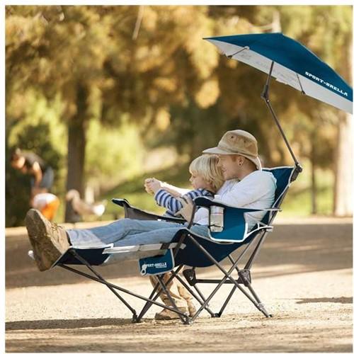 Sport Brella recliner chair blue 4