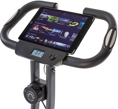 Tunturi B20 X-bike folding bike tablet op scherm